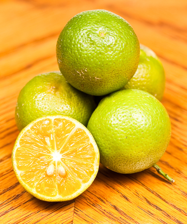 key limes close-up