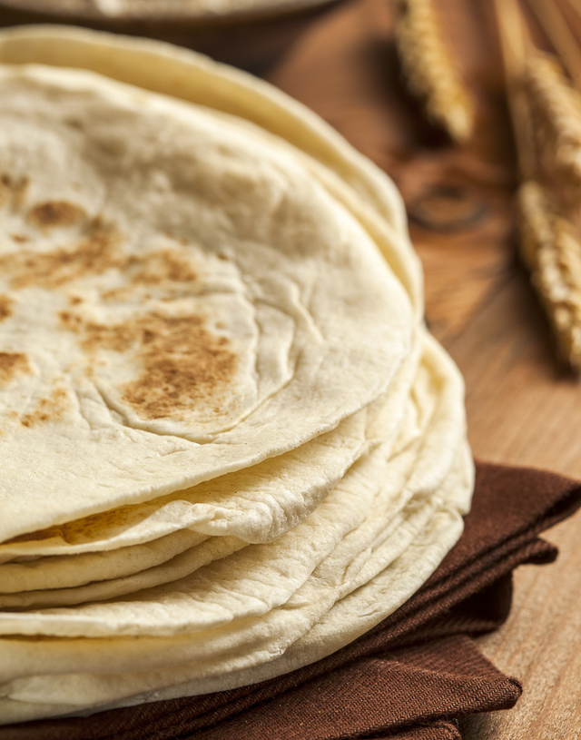 flour tortillas close-up