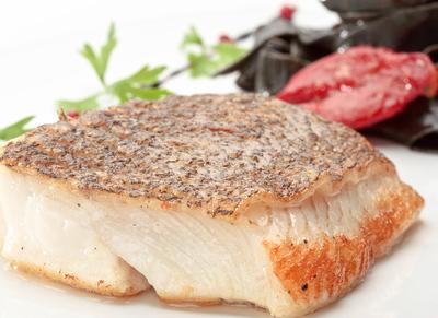 halibut fillet with crispy skin