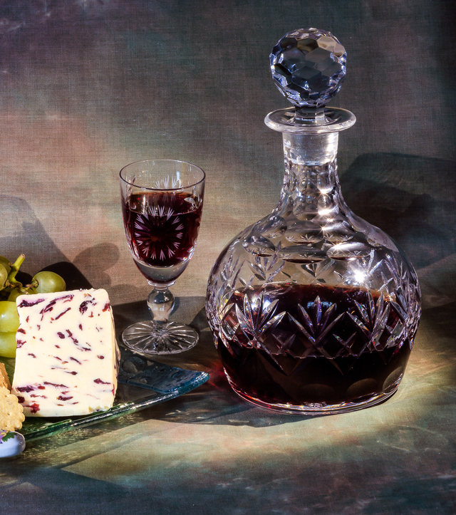 port wine with cheese