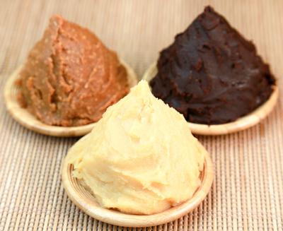 miso paste, red, white, yellow